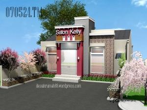 Desain Rumah Minimalis Bermenara Versi Tempat Usaha, Arsitektur Gaya Minimalis Modern yang Indah, 1 Lantai 150~200 m2