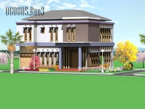 Desain Rumah Minimalis Cantik Full Color, Arsitektur Gaya Minimalis Modern, 2 Lantai 242 m2 Hook 2 Faced