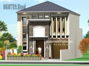 Desain Rumah Minimalis Modern 2 Lantai Faced Batu Alam