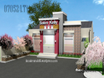 Desain Rumah Minimalis Bermenara Versi Tempat Usaha, Arsitektur Gaya Minimalis Modern yang Indah 150~200 m2