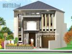 Desain Rumah Minimalis Modern 2 Lantai Facad Batu Alam